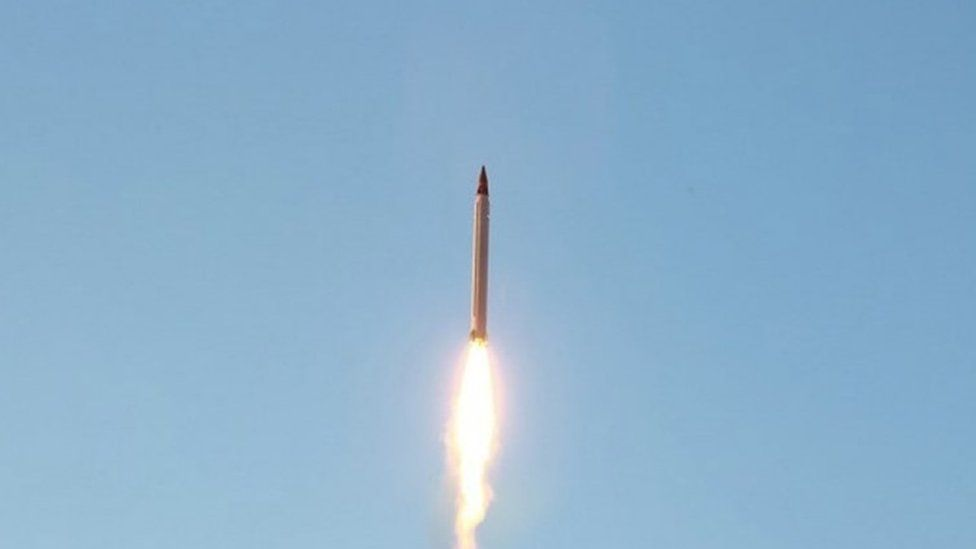 A new Iranian precision-guided ballistic missile is launched at an undisclosed location (11 October 2015)