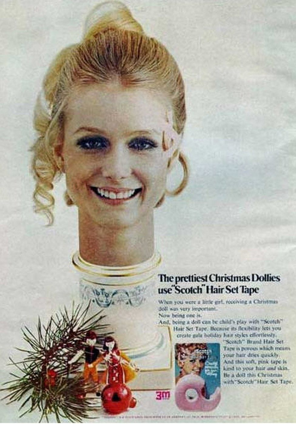 Advert for hair tape