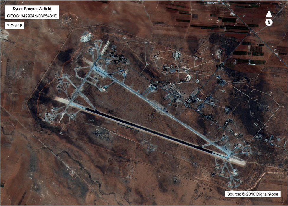 Aerial image of Shayrat airfield
