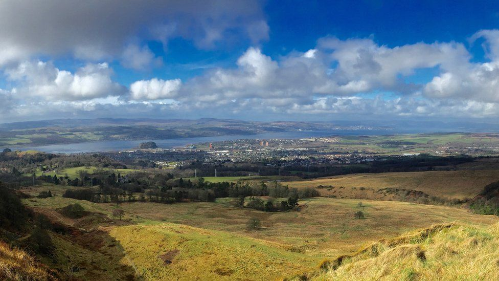 View looking down the Clyde