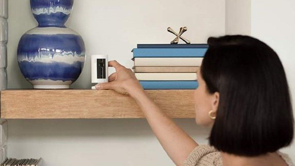 Amazon Ring home security camera.