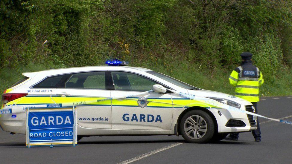 Gardai at scene of car crash in County Donegal