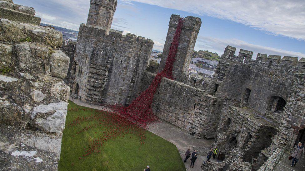 The Weeping Window at Caernarfon Castle