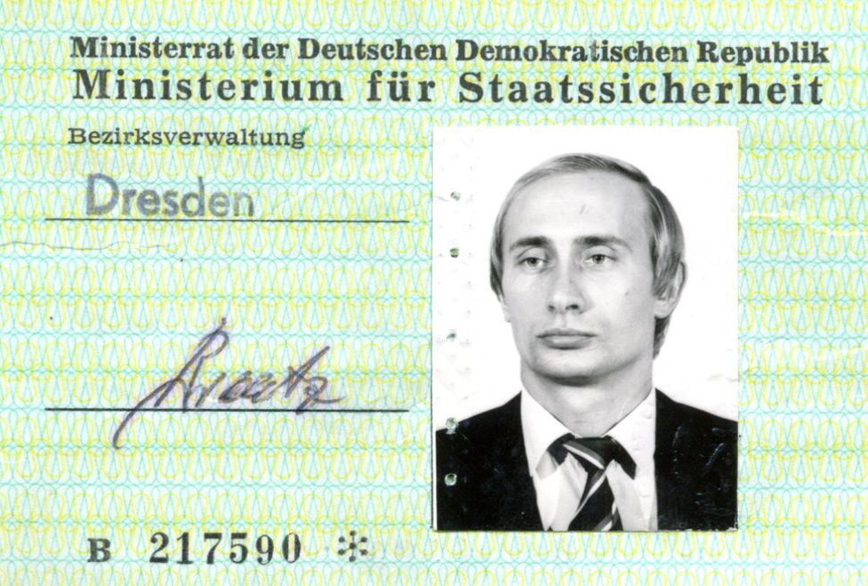 Putin S Stasi Spy Id Pass Found In Germany Bbc News