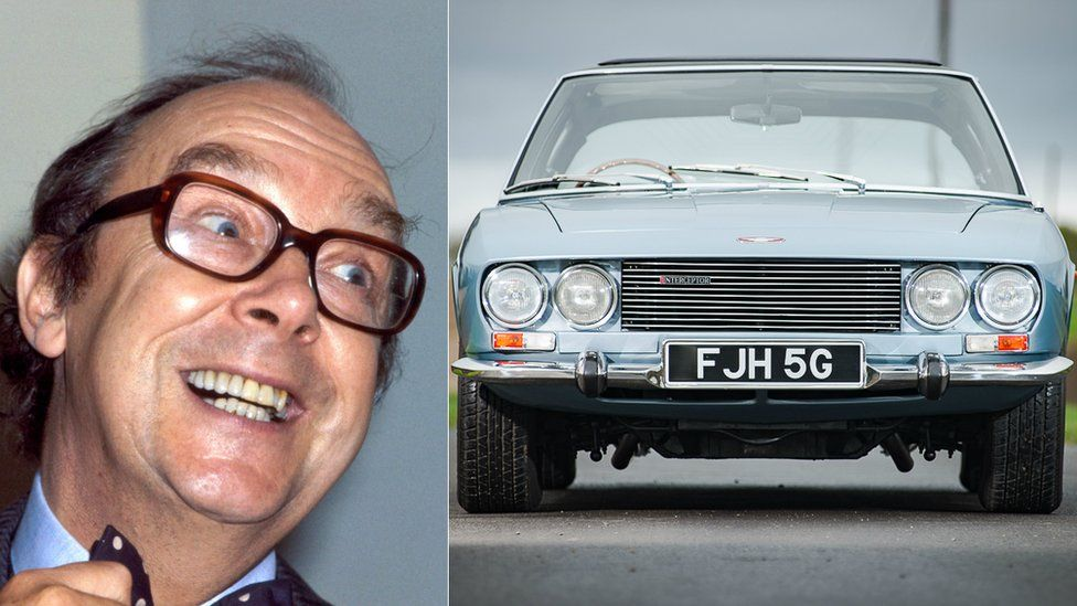 Eric Morecambe and his car