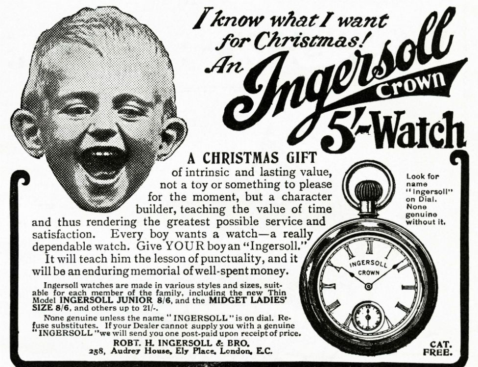 Advert for a watch