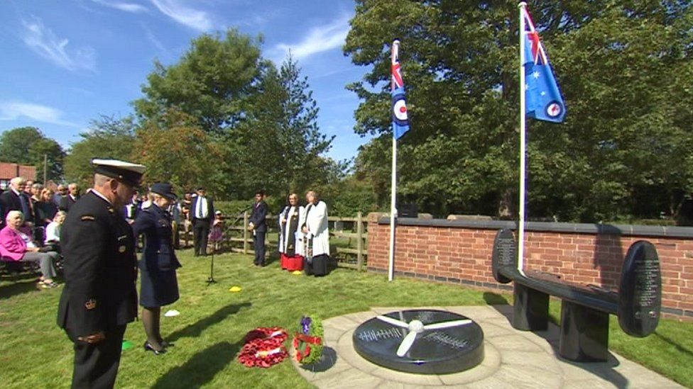 Dedication ceremony in Bleasby