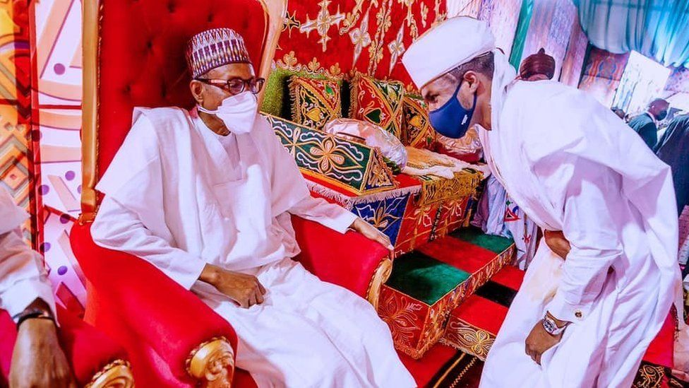 President Muhammadu Buhari and his son Yusuf