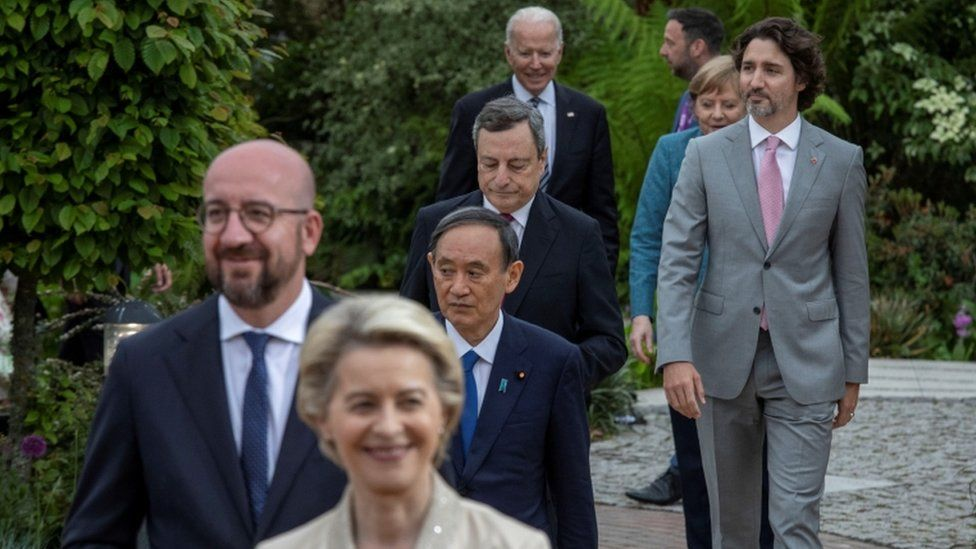 G7 leaders at the Eden Project, 11 June 2021