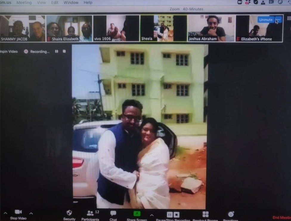 Sukanya and Shanthu's wedding was streamed on Zoom