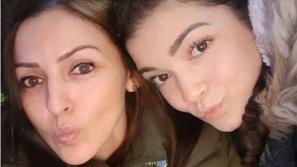 Giselle Marimon-Herrera and her daughter Allison