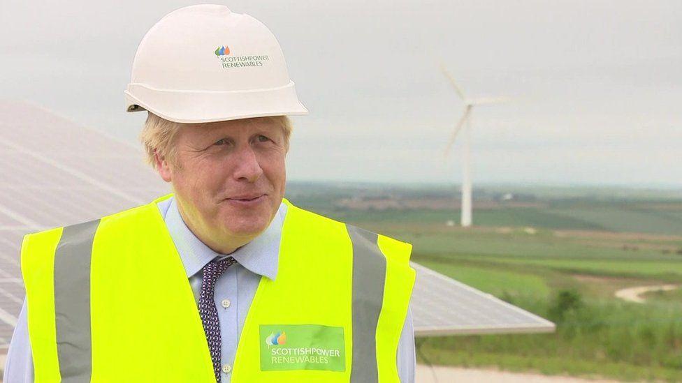 Boris Johnson in Cornwall on 9 June 2021