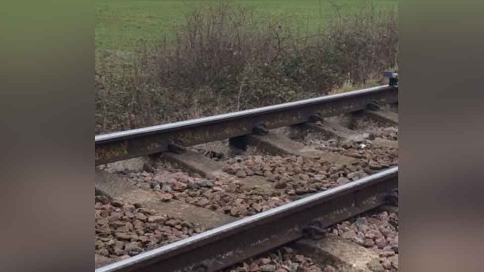Track damage between Billericay and Wickford