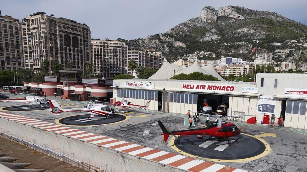 Heli Air Monaco service, Monte Carlo