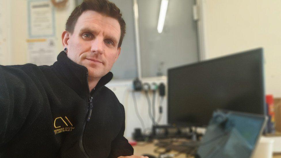 Andrew Lee Davis, 36, a civil engineer based in Newport, south Wales