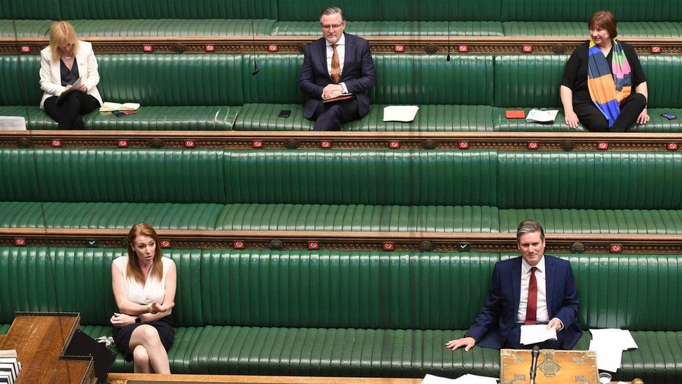 Labour benches in the House of Commons