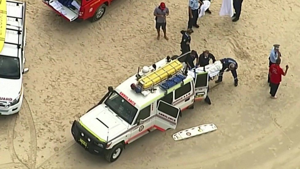 Body removed from beach