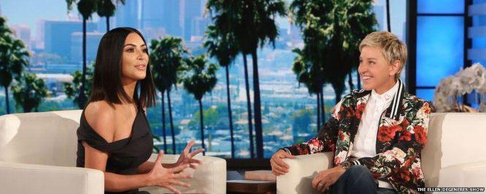 Kim Kardashian and Elle DeGeneres