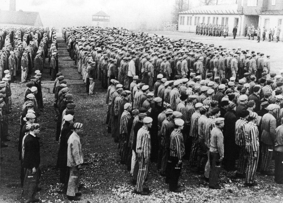 Prisoners at Buchenwald