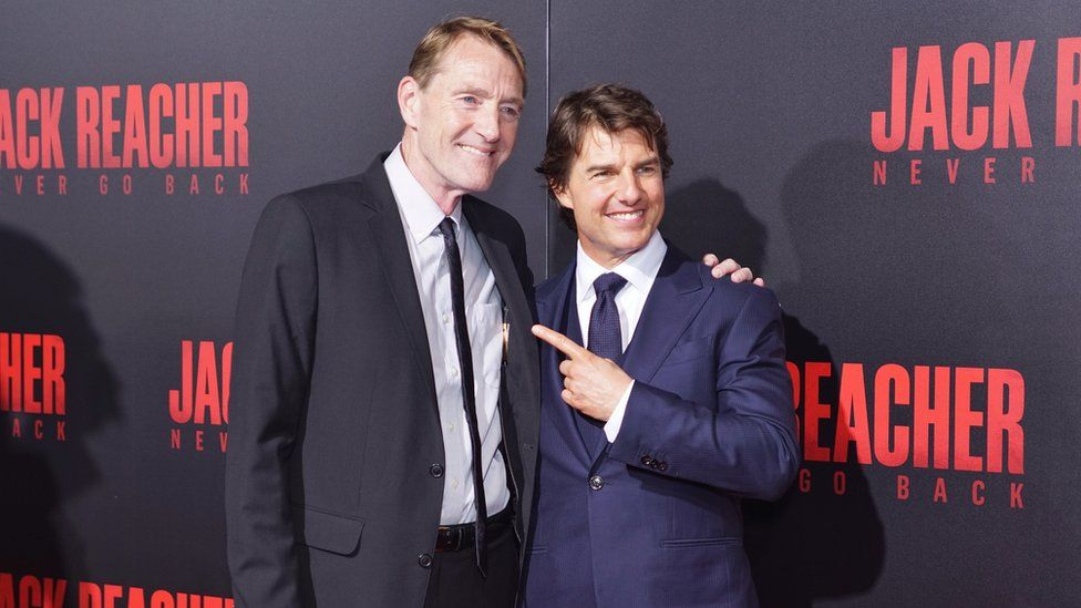 Lee Child and Tom Cruise