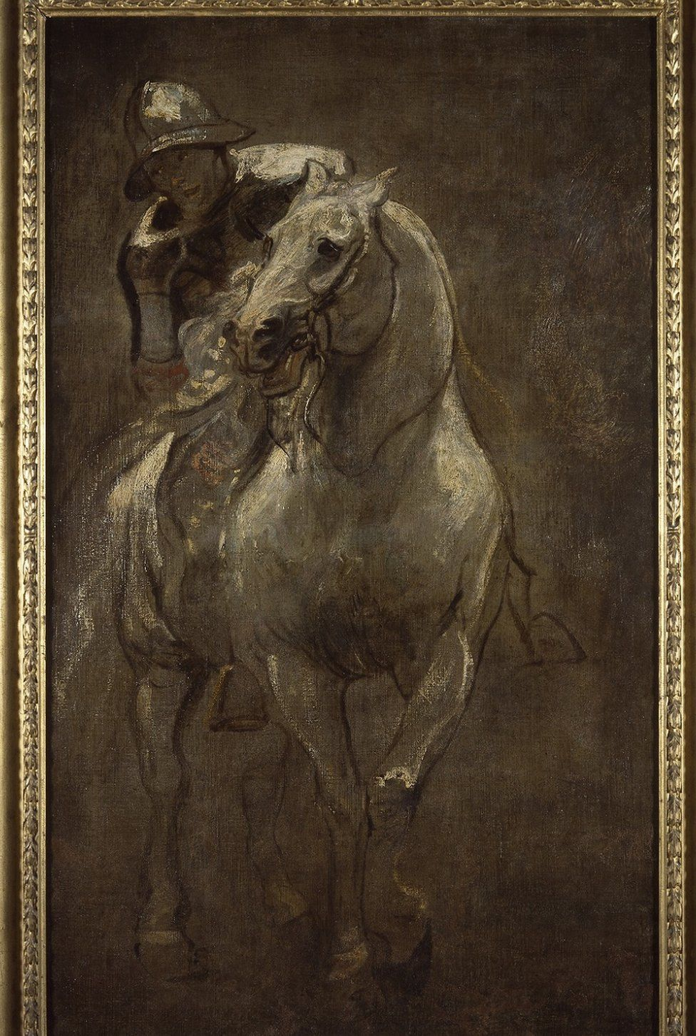 A Soldier On Horseback by Anthony Van Dyck