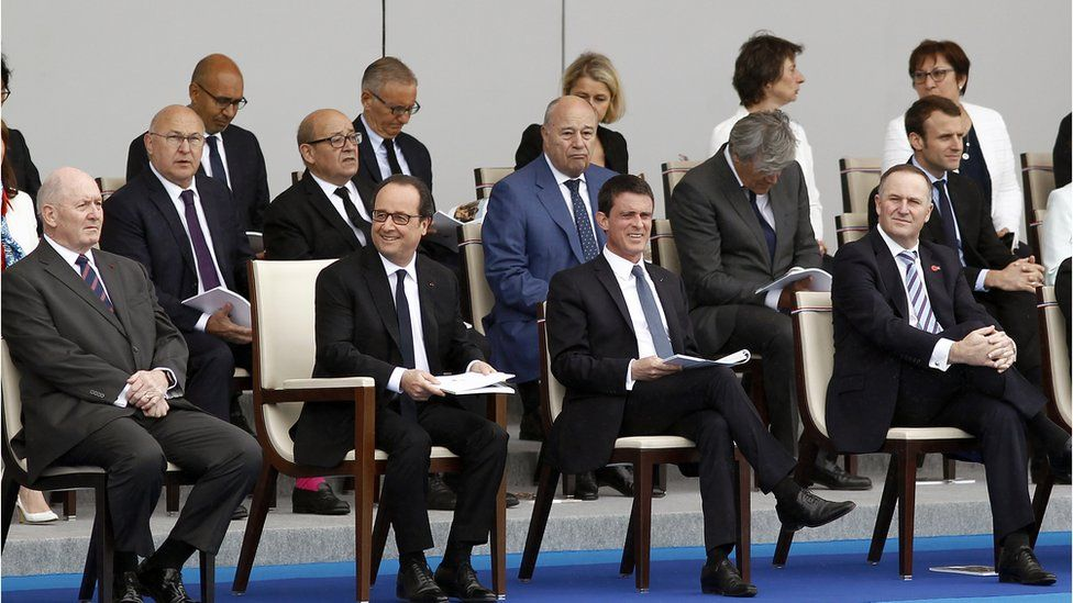 The political row cast a shadow over Bastille Day celebrations on the Champs Elysees (14 July)