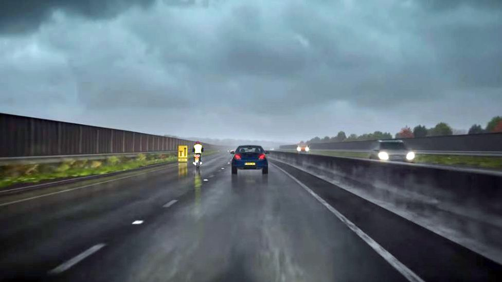Clip showing motorway in DVSA theory test