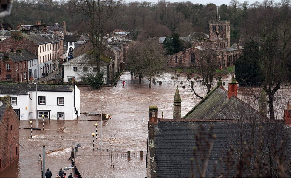 View of flooded Appleby
