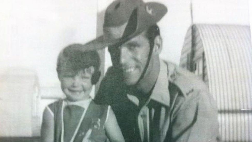 Cheryl with her late father, Vince Grimmer