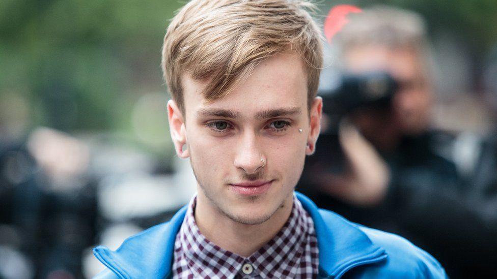 Charlie Alliston on way to court