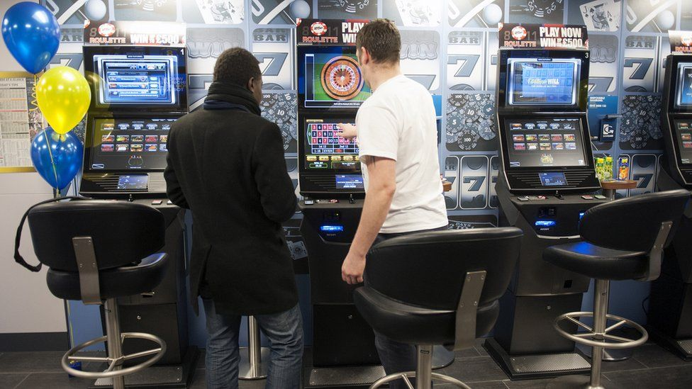 Men gamble on fixed odds betting terminals