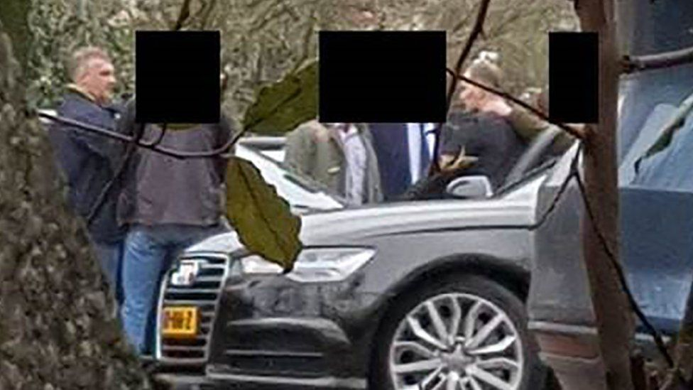 Alleged Russian agents at a car park near the OPCW in The Hague in April