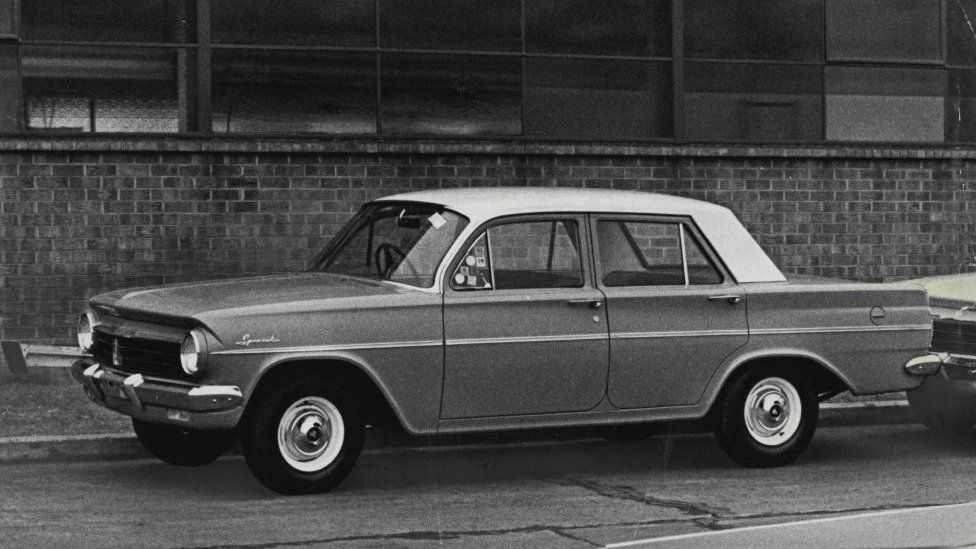 The EH model Holden sedan which was released by General Motors-Holden's on August 26 1963.