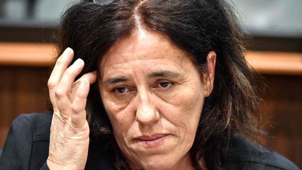 Rosa Maria Da Cruz in court in Tulle, central France, on 12 November 2018