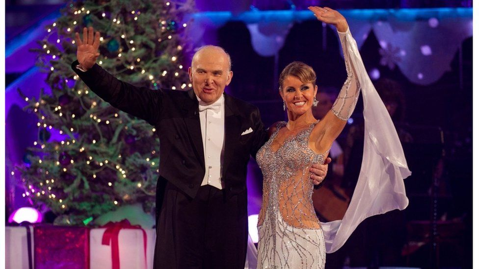 Sir Vince Cable and Erin Boag on Strictly Come Dancing