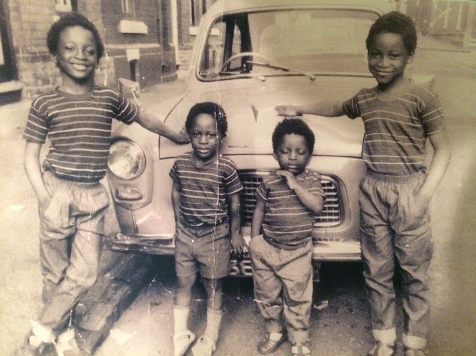 Tony Kofi (second from left) with three of his brothers