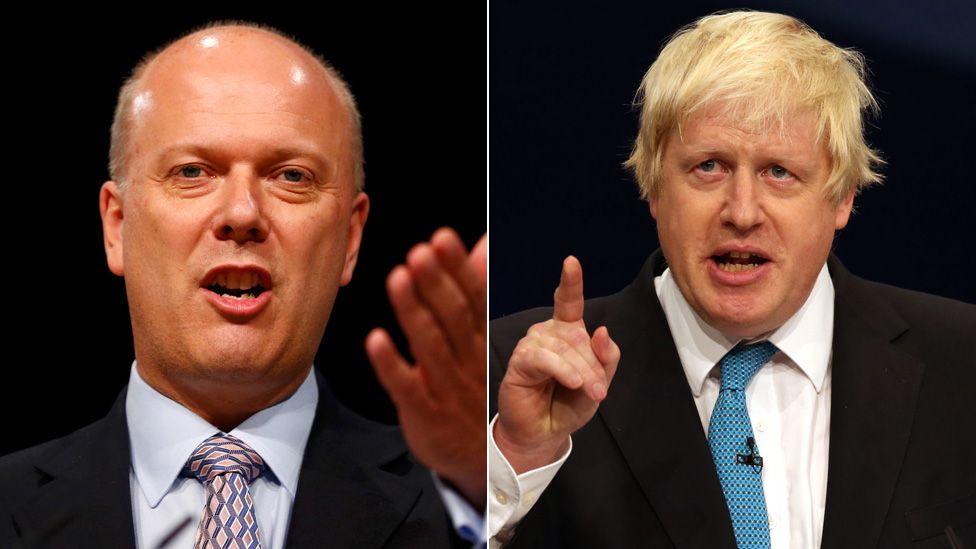 Chris Grayling and Boris Johnson