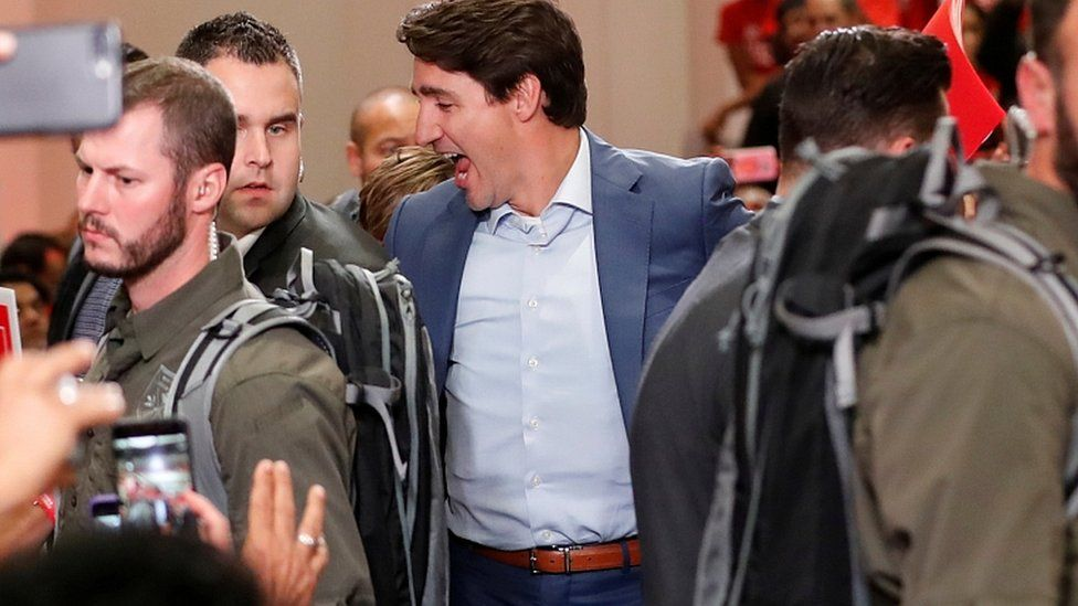 Canadian PM Trudeau shrugs off security threat