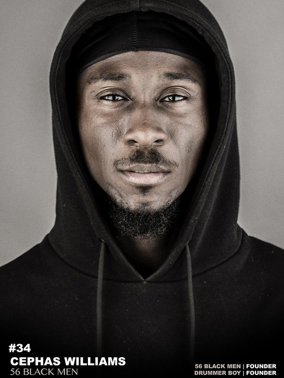 Why 56 black men are posing in hoodies bbc news