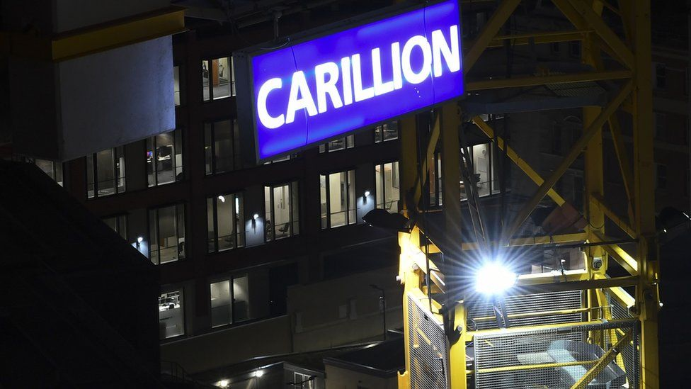 Carillion sign on a UK construction site