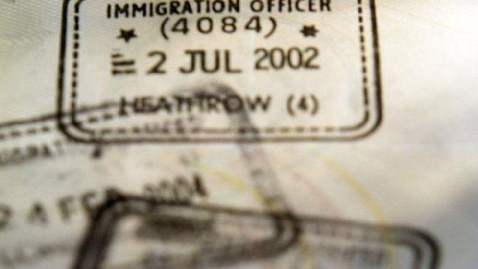 Visas in a passport (22 March 2013)