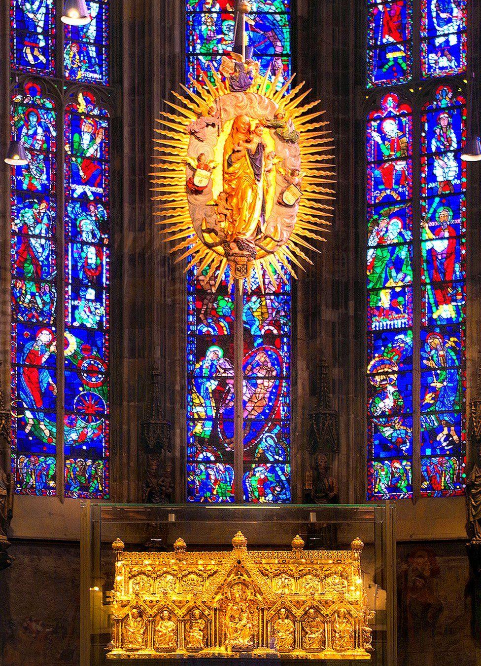A Madonna in church