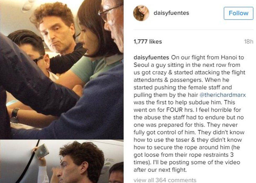 Screenshot of Daisy Fuentes' Instagram post