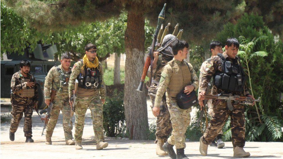 Afghan security forces in Kunduz in July