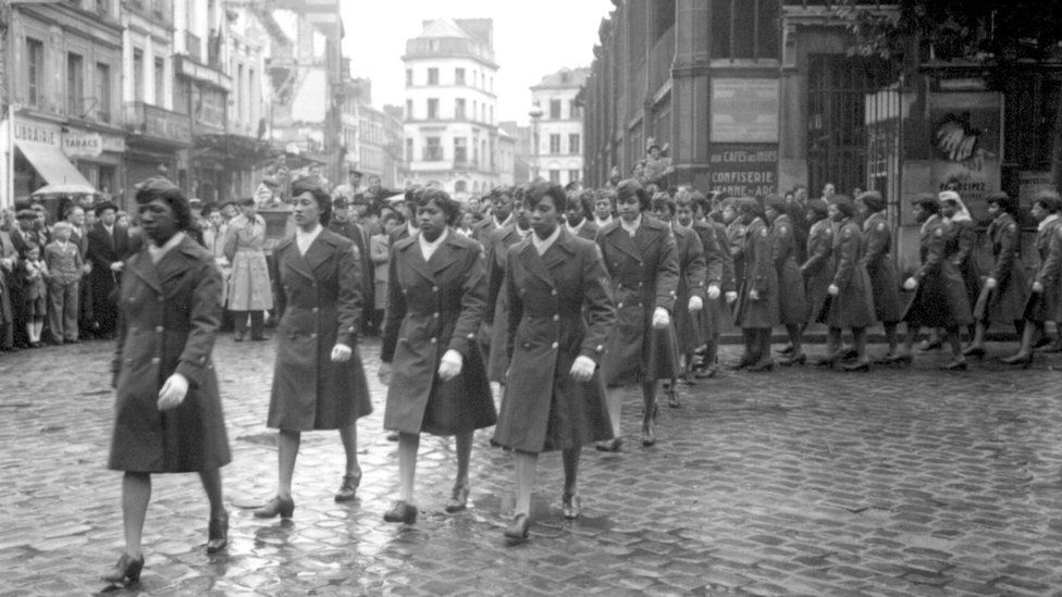 Members of the 6888th Battalion in Rouen
