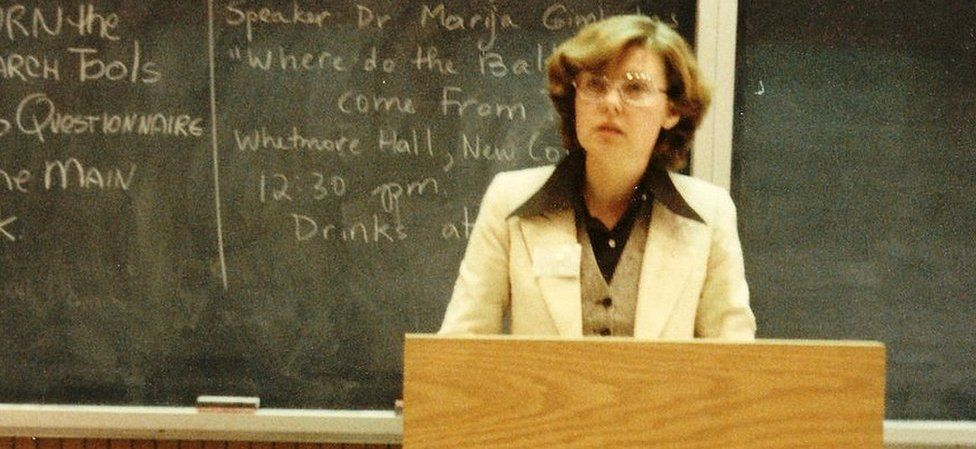 Vaira lecturing in 1978