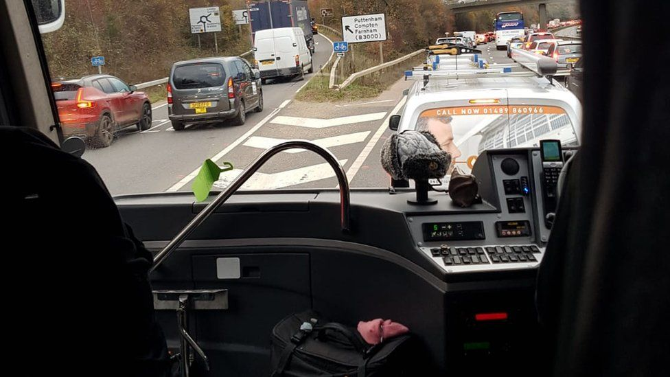 View from a coach