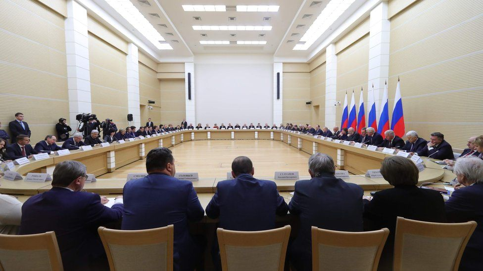 President Vladimir Putin meets his newly formed working group for amending the constitution