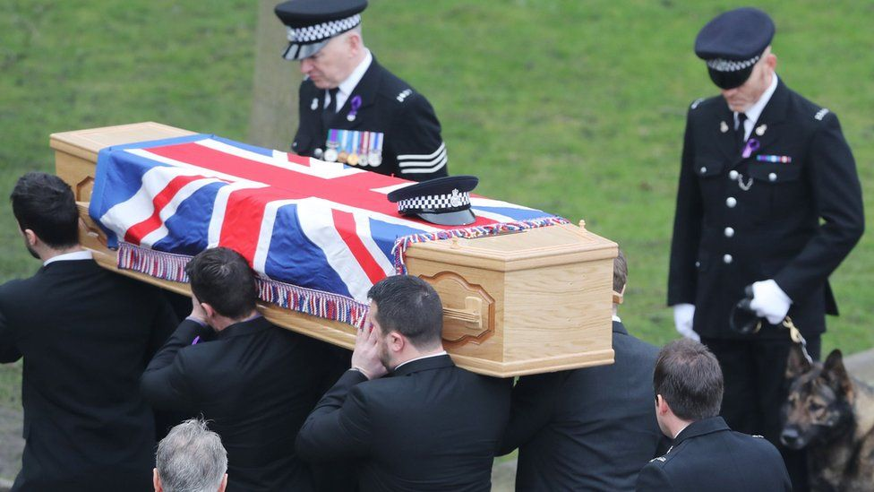 Funeral being carried