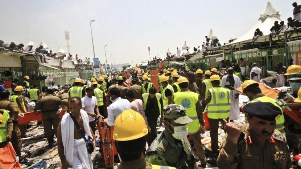 Disaster site in Mina, 24 Sept